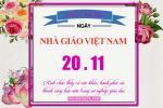 PSD mẫu thiệp mừng ngày nhà giáo Việt Nam 20 - 11 đẹp và ý nghĩa
