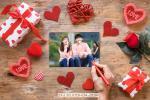 Chia sẻ PSD Mockup ghép ảnh tình yêu - Ghép ảnh đôi lãng mạn