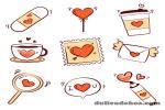Mẫu vector biểu tượng tình yêu trang trí valentine đẹp miễn phí