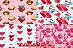 Chia sẻ vector họa tiết trang trí nền valentine đẹp