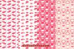 Download vector trang trí valentine hoa văn trái tim miễn phí