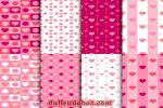 Download vector nền họa tiết hình trái tim trang trí valentine đẹp