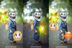 Tải PSD ghép mặt trung thu - Chú tiểu trung thu cầm lồng đèn