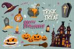 Miễn phí vector AI trang trí Halloween kinh dị