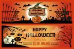 Vector thiệp mời Halloween - Halloween Party