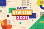 Mẫu vector background nền năm mới 2021 miễn phí