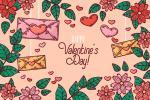 Tài nguyên vector Valentine AI nền hoa độc đáo