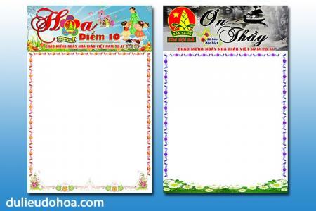 PSD Báo tường 20-11 chào mừng ngày nhà giáo Việt Nam