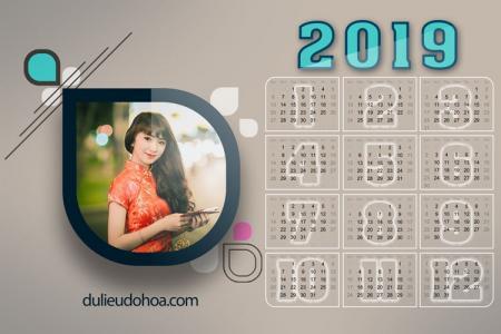 PSD lịch năm mới 2019 - Lịch treo tường, để bàn 2019