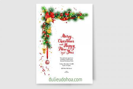 Vector Thiệp Giáng Sinh 2018, Thiệp Merry Chrimas