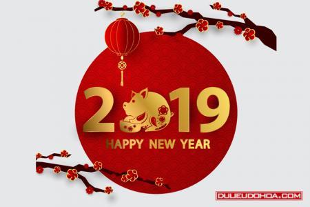 Tải miễn phí Vector Chúc mừng năm mới 2019