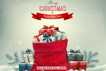 Chia sẻ vector nền mừng giáng sinh và năm mới đẹp nhất