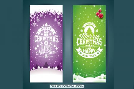 Vector thiệp mừng giáng sinh, Noel, Merry Christmas đẹp