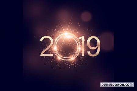 Vector năm mới 2019 - Background năm mới 2019