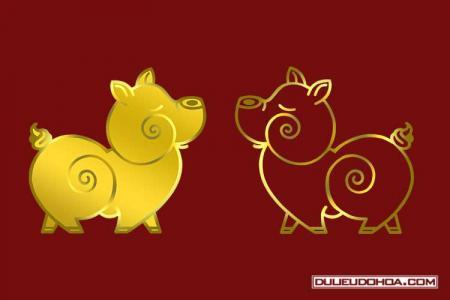 PNG heo vàng, lợn vàng, heo tết 2019 đẹp