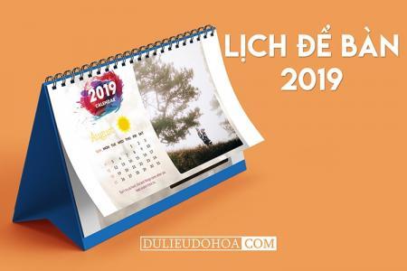 PSD lịch để bàn 2019 - Chia sẻ file PSD thiết kế lịch 2019