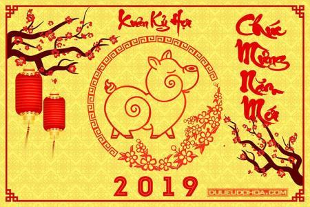Chia sẻ PSD tết, năm mới 2019 - Psd chào xuân Kỷ Hợi tải free