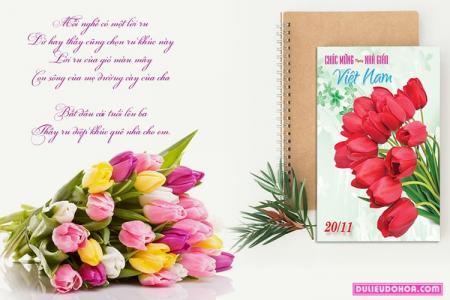 PSD thiệp mừng ngày nhà giáo Việt Nam  20 - 11