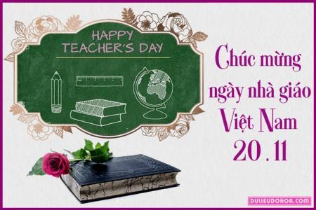 Chia sẻ PSD thiệp mừng ngày hiến chương nhà giáo Việt Nam  20 - 11