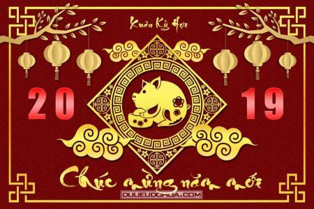 Free download PSD Banner, background chúc mừng năm mới 2019