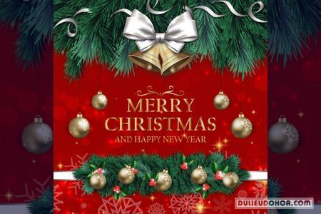 Vector giáng sinh - Thiệp mừng giáng sinh và năm mới