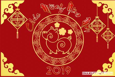 Share banner, background chúc mừng năm mới 2019 PSD