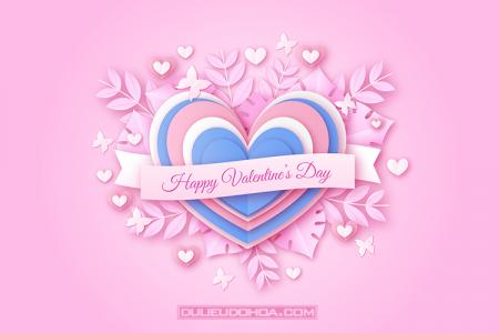 Share file vector background valentine trái tim hồng lãng mạn