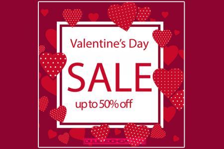Vector Valentine, vector nền khuyến mãi, giảm giá đẹp nổi bật