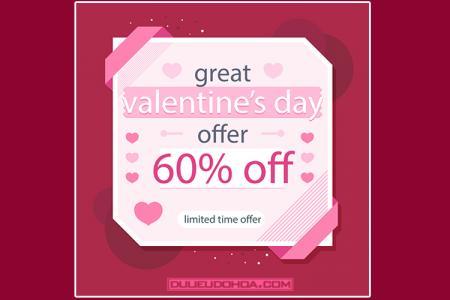 Share vector valentine thiết kế giảm giá, khuyến mãi chất lượng nhất