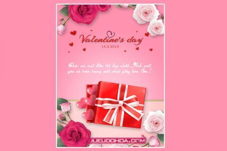 PSD thiệp Valentine đẹp - Thiết kế thiệp tình yêu đẹp lãng mạn