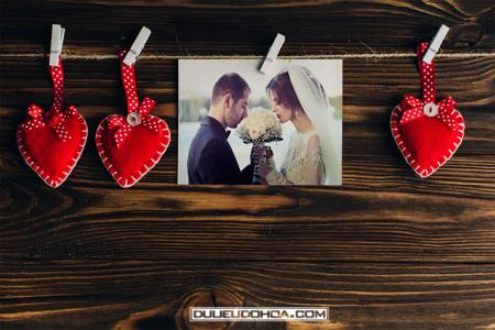 Share PSD Mockup khung ảnh tình yêu kỷ niệm đép