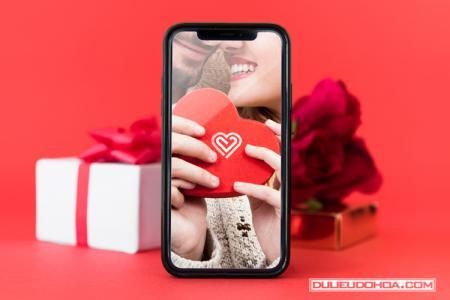Free Download PSD Mockup Iphone X ghép ảnh tình yêu đẹp