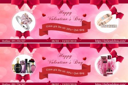 Miễn phí PSD banner quảng cáo lễ tình yêu - Background giảm giá Valentine
