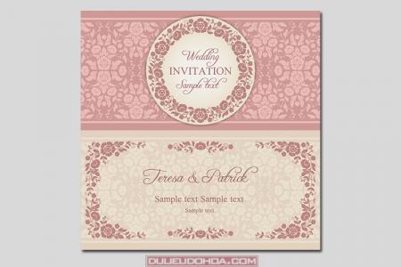 Download vector thiệp cưới đẹp sang trọng 01