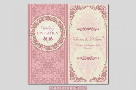 Download vector thiệp cưới đẹp sang trọng 04