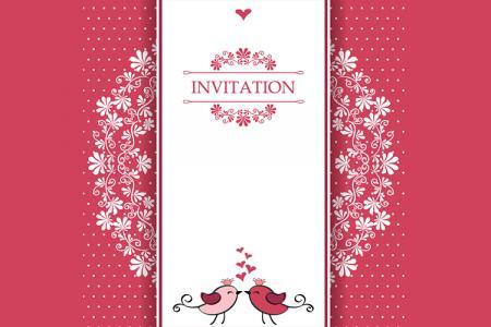 Mời tải file vector thiệp cưới đẹp lãng mạn được yêu thích nhất