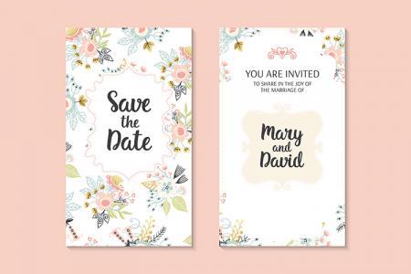 Share vector thiệp cưới hoa floral hiện đại đẹp lung linh