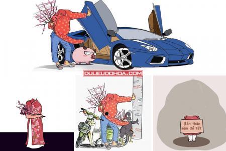 Chia sẻ PSD ghép mặt vào ảnh hài hước đón Tết Tân Sửu 2021