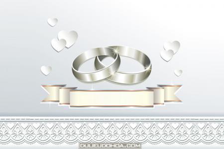 Tải miễn phí vector thiệp cưới ren đẹp lãng mạn