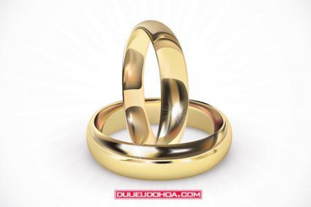 Vector nhẫn cưới - Nhẫn kết hôn vector AI mẫu 03