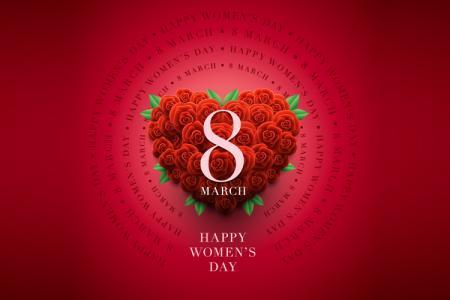 Download file Vector AI ngày quốc tế phụ nữ 8-3 hoa hồng đẹp
