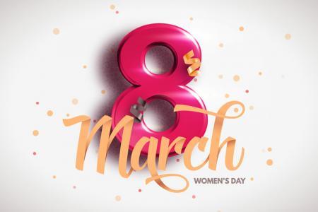 Vector mừng ngày 8 tháng 3 quốc tế phụ nữ đẹp ấn tượng