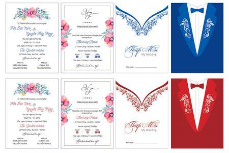 Download file thiệp cưới đẹp - Vector thiệp cưới độc đáo tải miễn phí