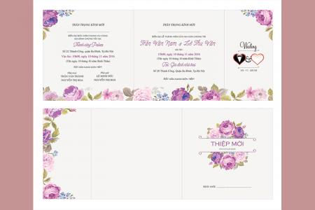 Chia sẻ vector thiệp cưới, thiệp hồng mời cưới đẹp nhất 2019