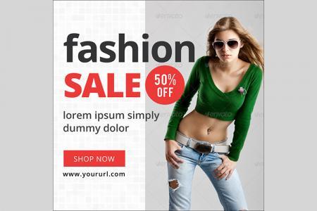 PSD thiết kế banner quảng cáo thời trang đẹp ấn tượng