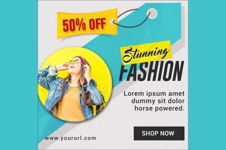 Free PSD quảng cáo đẹp ấn tượng cho Marketing online
