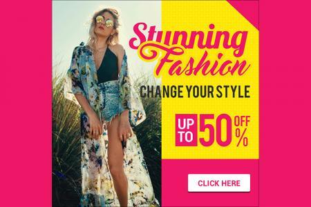 Free PSD banner quảng cáo thời trang xuân - hè đẹp rực rỡ