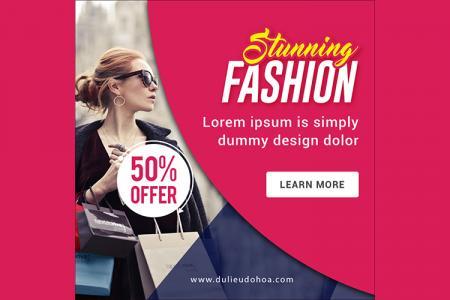 Download banner quảng cáo thời trang đẹp cho Marketing online- Mẫu 2