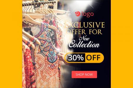 Download banner quảng cáo thời trang đẹp cho Marketing online- Mẫu 1