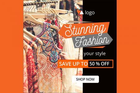 Download banner quảng cáo thời trang đẹp cho Marketing online- Mẫu 3